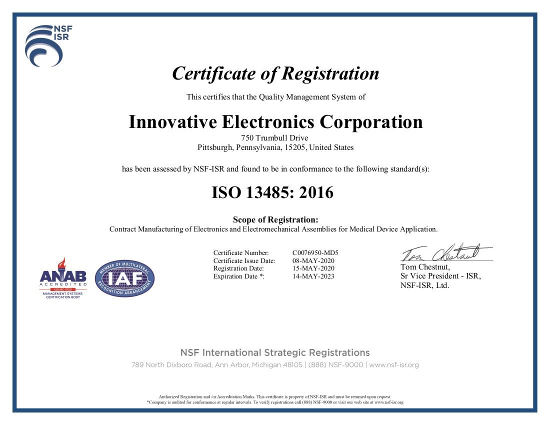 Top electronics manufacturer innovative electronics corporation quality certifications xflitez Choice Image